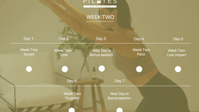 Week Two Calendar 2