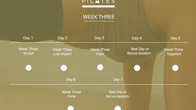 Week Three Calendar