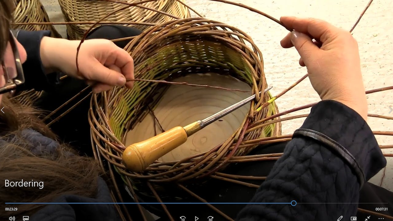 How to border a round willow basket | 5 behind 2