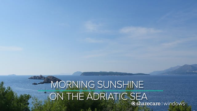 Morning Sunshine on the Adriatic Sea
