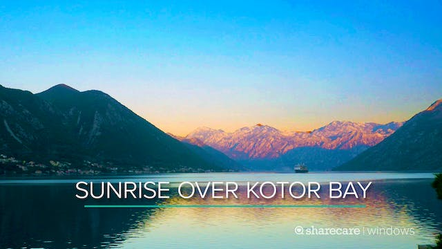 Sunrise Over Kotor