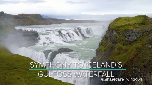 45 Minutes of Symphony to Iceland's Gulfoss Waterfall