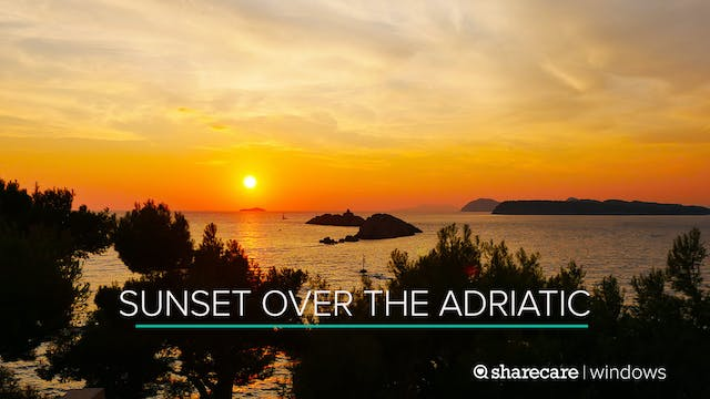 Breathtaking Sunset Over the Adriatic...