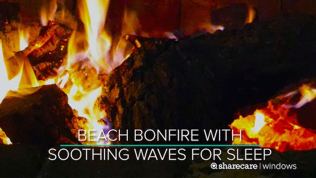 8 Hours of Beach Bonfire with Soothin...