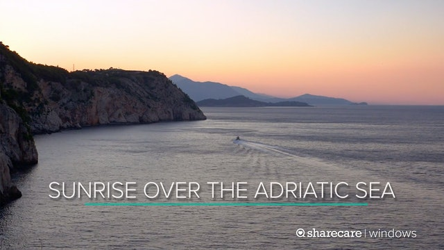Sunrise Over the Adriatic Sea