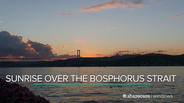 Sunrise over the Bosphorus Strait
