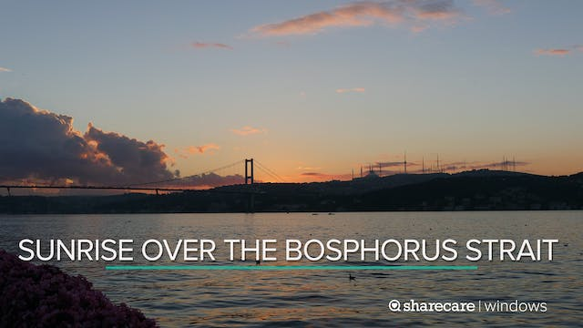Sunrise over the Bosphorus Strait