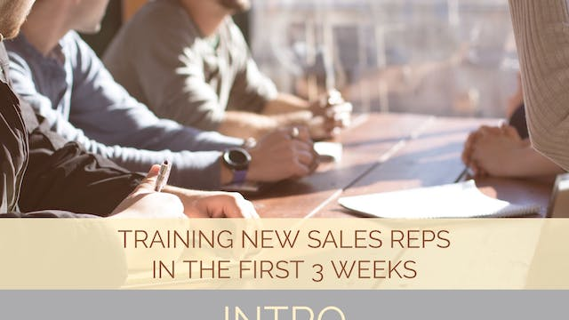 Training New Sales Reps in the First ...
