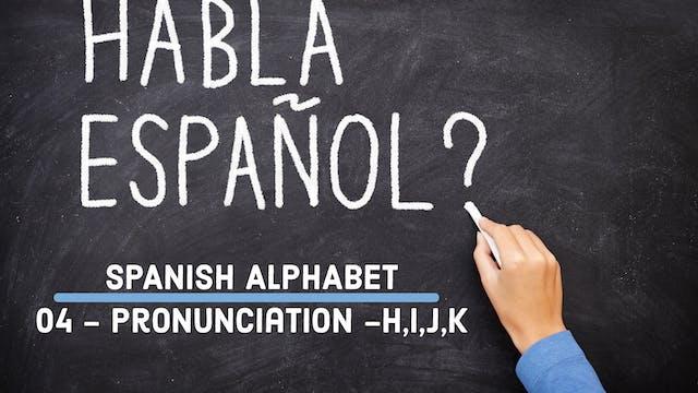 Spanish - Alphabet - 04 - Pronunciati...