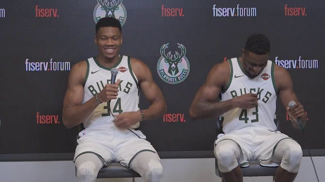 Bucks Media Day: Giannis Antetokounmp...