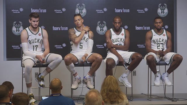 Bucks Media Day: Khris Middleton, Dra...
