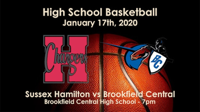 Sussex Hamilton vs Brookfield Central Basketball