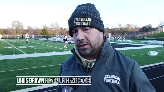 Franklin Head Coach Louis Brown