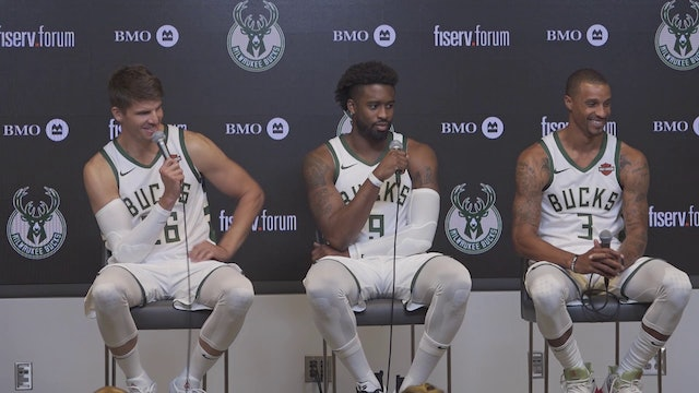 Bucks Media Day: Kyle Korver, Wesley Matthews, George Hill