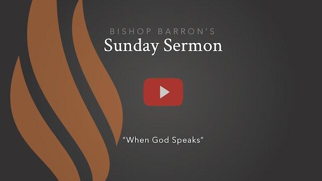 When God Speaks — Bishop Barron's Sunday Sermon