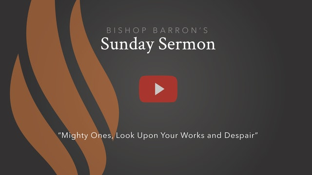 Mighty Ones, Look Upon Your Works and Despair — Bishop Barron's Sunday Sermon