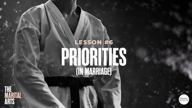 Priorities (In Marriage)