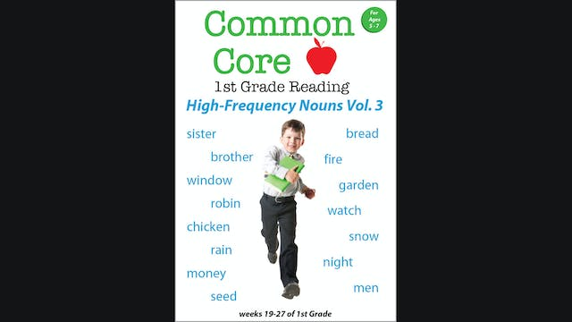 Common Core - 1st Grade Reading - High-Frequency Nouns Vol. 3