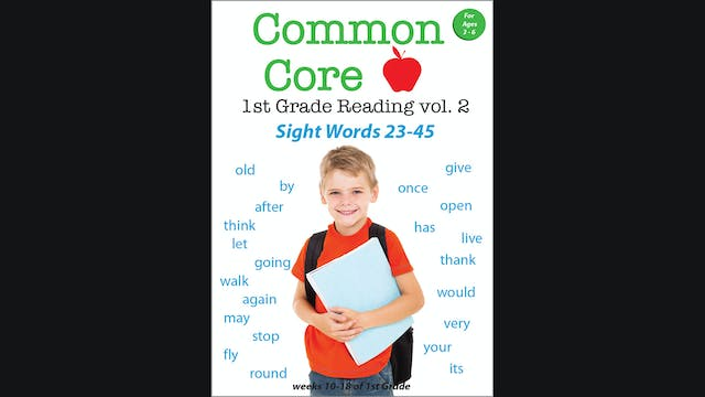 Common Core 1st Grade Reading - Sight Words Volume 2
