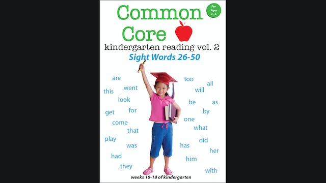 Common Core - Kindergarten Reading Vo...