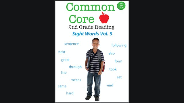 Common Core 2nd Grade Reading - Sight Words - Volume 5