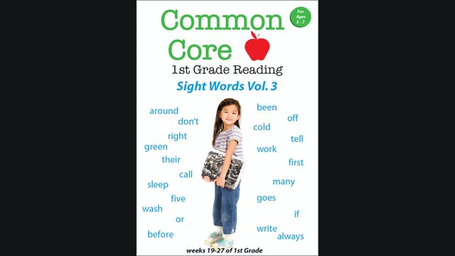 Common Core 1st Grade Reading - Sight Words Volume 3