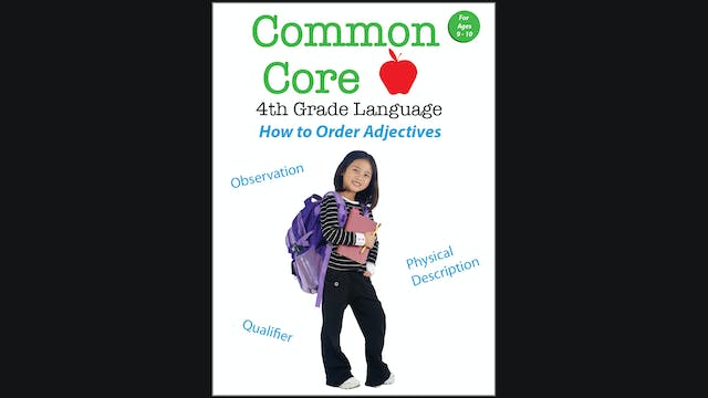 Common Core 4th Grade Language - How to Order Adjectives