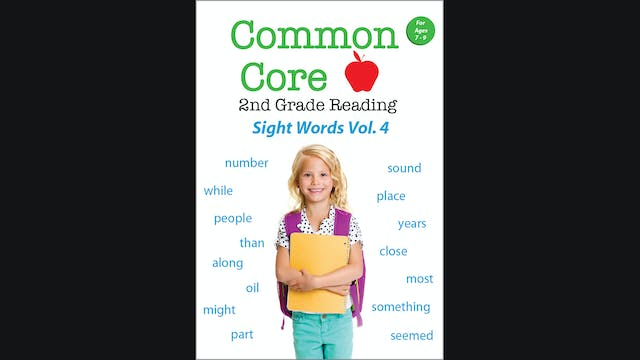 Common Core 2nd Grade Reading - Sight Words - Volume 4