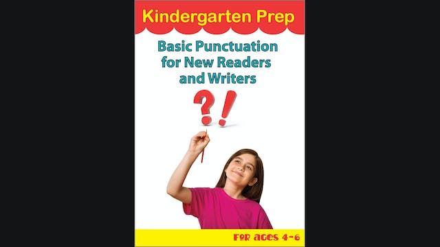 Kindergarten Prep - Basic Punctuation...
