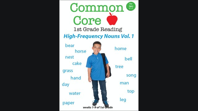 Common Core 1st Grade High Frequency Nouns Volume 1
