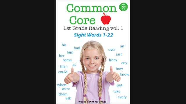 Common Core 1st Grade Reading - Sight Words Volume 1