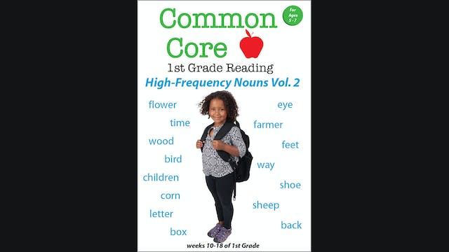 Common Core - 1st Grade Reading - High Frequency Nouns Vol. 2