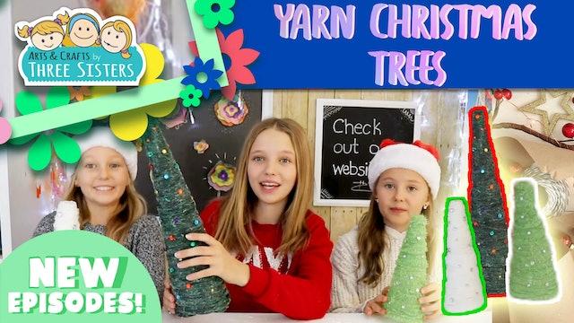 How to Make Yarn Christmas Trees - Fun Christmas Crafts for Kids