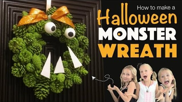 How to Make a Monster Wreath | DIY Ha...