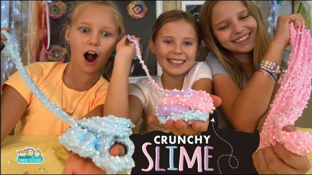 How to Make Crunchy Slime with Foam Beads | Easy Homemade Slime