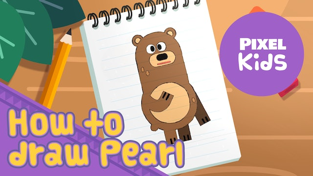 Draw with Rhino | Draw Pearl - Learn to Draw for Kids