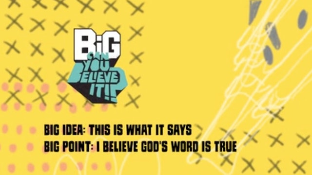 CAN YOU BELIEVE IT?!    Big Message Episode 1.2   This Is What It Says