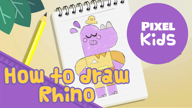 Draw With Rhino | Learning to Draw for Kids