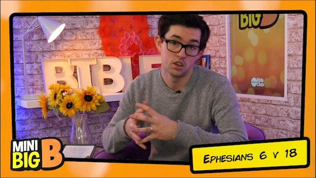 Bible Devotions | Ephesians 6 v 18