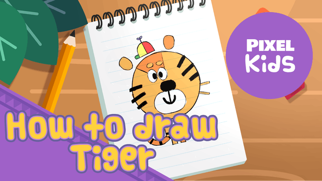 Draw with Rhino | Tiger - Learn to Draw for Kids