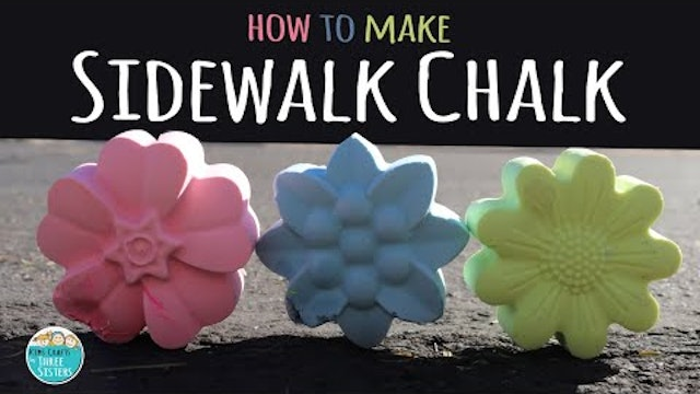 How to Make DIY Sidewalk Chalk | Spring & Summer Craft for Kids