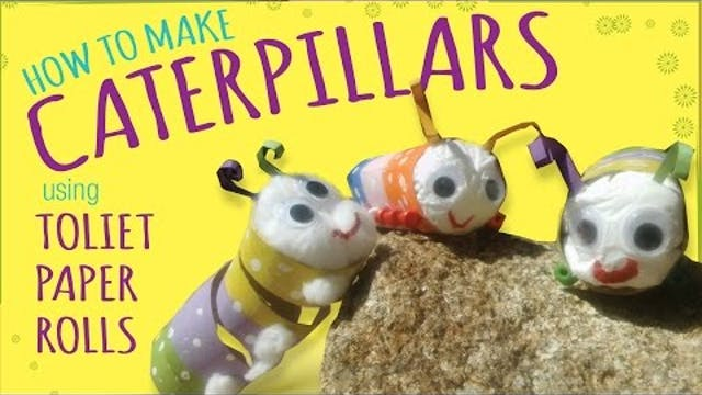 How to Make a Caterpillar - Toilet Pa...