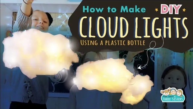 How to Make a DIY Cloud Light from a Plastic Bottle
