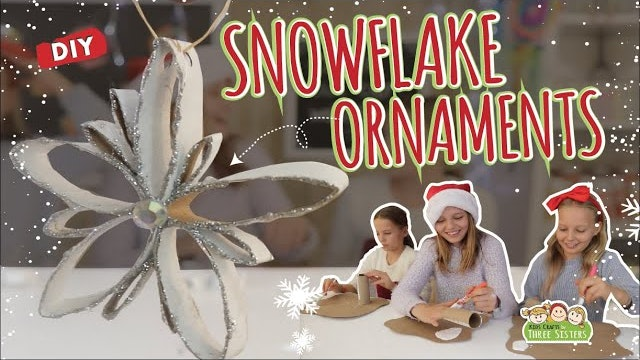 Snowflake Ornaments Made from Paper Rolls