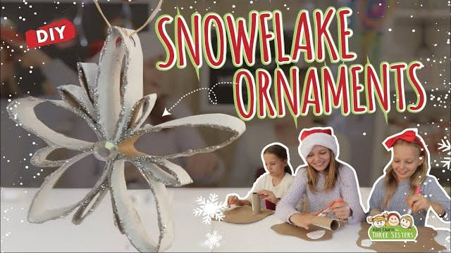Snowflake Ornaments Made from Paper R...