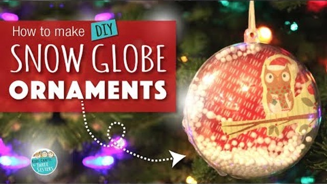 How to Make a Snow Globe Ornament  | Easy DIY Christmas Craft for Kids