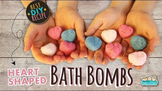 Heart Shaped Fizzy Bath Bombs Ssing Coconut Oil