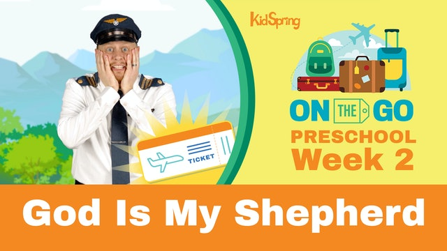 On The Go | Preschool Week 2 | God Is My Shepherd