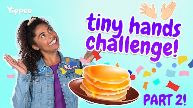 PANCAKE ART CHALLENGE! With Tiny Hands (Part 2)