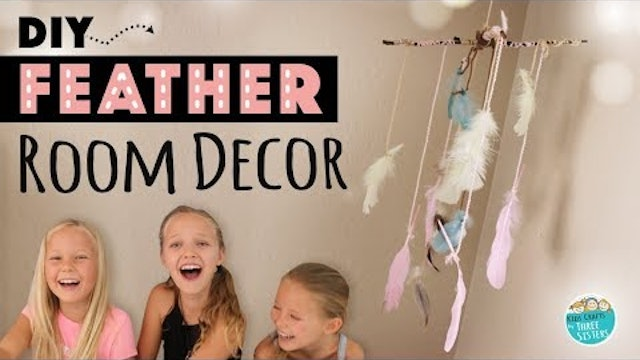 Easy DIY Feather Room Decor | How to Make a Room Mobile | Kids Craft
